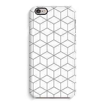 Iphone 6 6s Case 3d Case (Glossy) - Cubes black and white