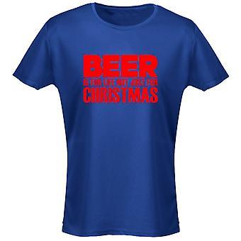 Bier Is niet alleen voor Kerstmis Xmas Womens T-Shirt 8 kleuren (8-20) door swagwear