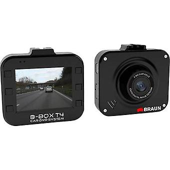 Dashcam Braun Germany B-Box T4 Horizontal viewing angle (max.)=120 ° 12 V Battery, Display, Microphone