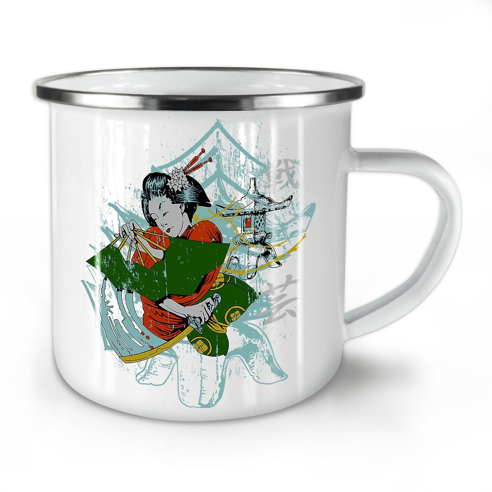 Nouvelle Folklore Fantasy OzWellcoda Café Mug10 Émail Whitetea Japon uKJ5l3F1Tc
