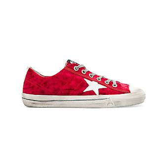 Golden Goose men's G32MS639R1 red leather of sneakers