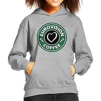 Eurovision Coffee Kid's Hooded Sweatshirt
