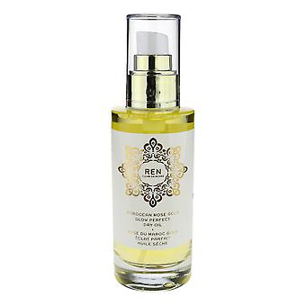 Ren Moroccan Rose Gold Glow Perfect Dry Oil 'All Skin Types' 3.3Oz New In Box