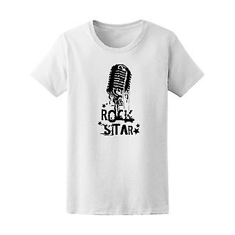 Vintage Rock Star And Microphone Tee Men's -Image by Shutterstock