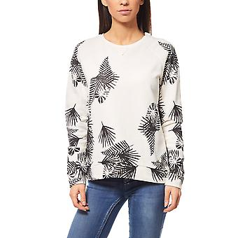 Lee leaves SWS ladies Palmenprint Sweatshirt white logo