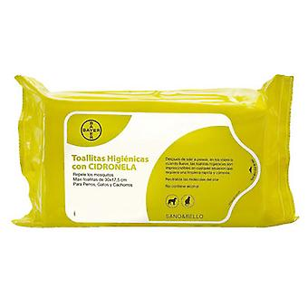 Bayer Hygienic Wipes With Citronella