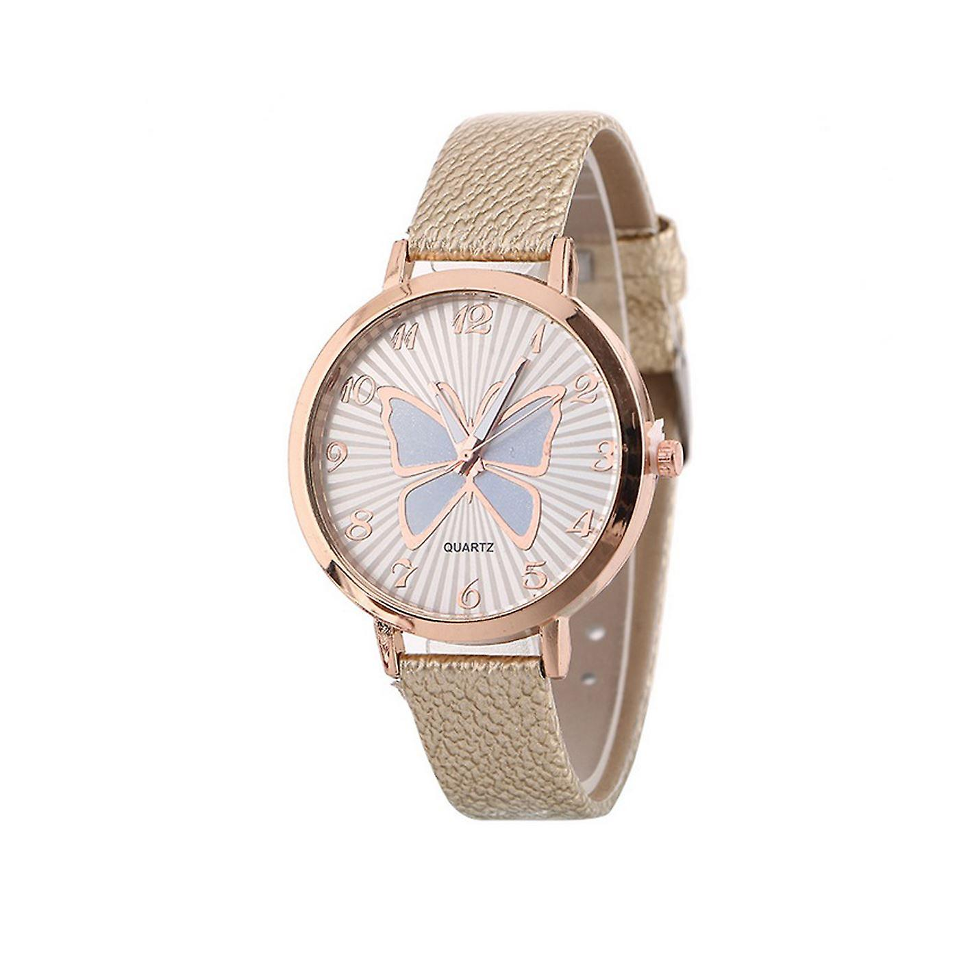 Cute Rose Gold Butterfly Watch Love Khaki Time UV