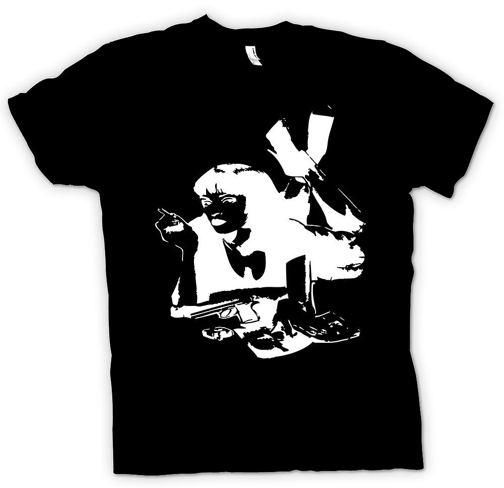 Mens T-shirt - Pulp Fiction - Mia Wallace - Stencil