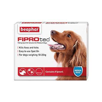 Beaphar FIPROtec plats på för medelstora hundar, 6 X behandling mot loppor och fästingar