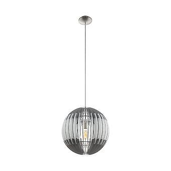 Eglo plafond hanger met enkele lichte Dia: 400 Grau Weiss Grau/nikkel Olmero