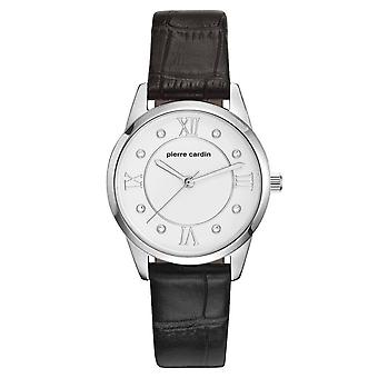Pierre Cardin ladies watch wristwatch Troca femme leather PC107892F01