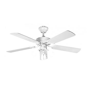 Ceiling Fan Genoa White with lighting 107 cm / 42