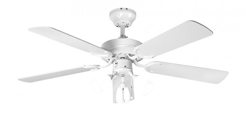 blanc de Gênes de ventilateur de plafond avec éclairage 107 cm 42 & 034;