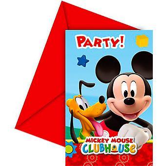 Uitnodiging uitnodigingen uitnodiging Mickey Mickey feest verjaardag 6 stuks