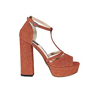 PINKO GAMAY COPPER GLITTER SANDALS