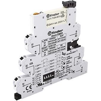 Tvärslån switch 1 dator 12 Vdc, 12 V AC 6 A 1 omkopplingstryck Finder 39.91.0.012.0060