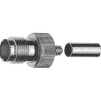 TNC reverse polarity connector Socket, straight 50 Ω Telegärtner