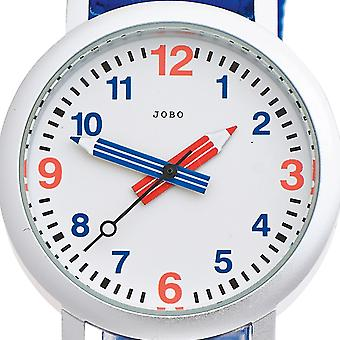 JOBO children watch helllbau blue quartz analog aluminium watch
