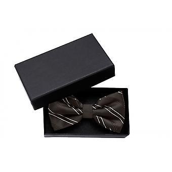 Bow tie black, finely striped noble glamour loop Fabio Farini white bow tie
