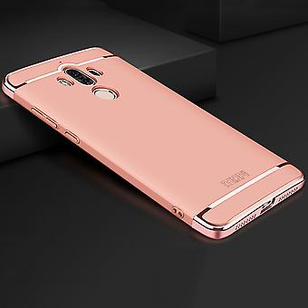 Cell phone cover case for Huawei mate 9 bumper 3 in 1 cover chrome rose gold