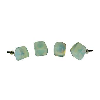 Blue Opalite Crystal Cabinet Knob or Drawer Pull Set of 4