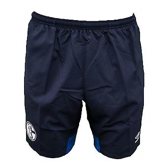 2018-2019 Schalke Umbro Woven Shorts (Peacot)