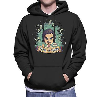 Plata O Plomo Pablo Escobar Narcos Men's Hooded Sweatshirt