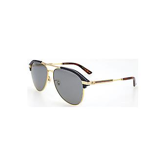 Gucci Grey-Silver Aviator Sunglasses Gg0288Sa-005 60