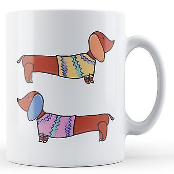 Колбаса собак в перемычки - печатные кружки