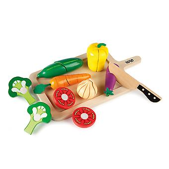 Tidlo Wooden Play Food Cutting Vegetables Set Pretend Roleplay Accessories