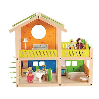 Hape-Happy Villa-wooden doll house