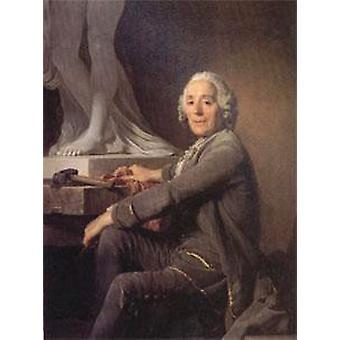 كريستوف الليجرين غابرييل، النحات جوزيف سيفريد دوبليسيس، 50x40cm