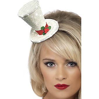 Weiße Weihnacht-Hut-Stirnband.  One Size