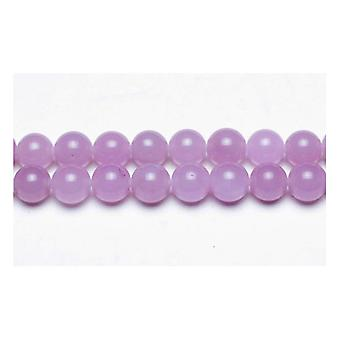 Strand 45+ Lilac Malaysian Jade 8mm Plain Round Beads GS9970-3