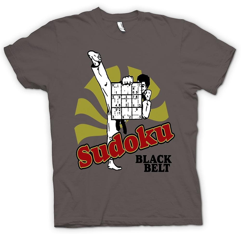 Womens T-shirt - Sudoku Black Belt Karate - Funny