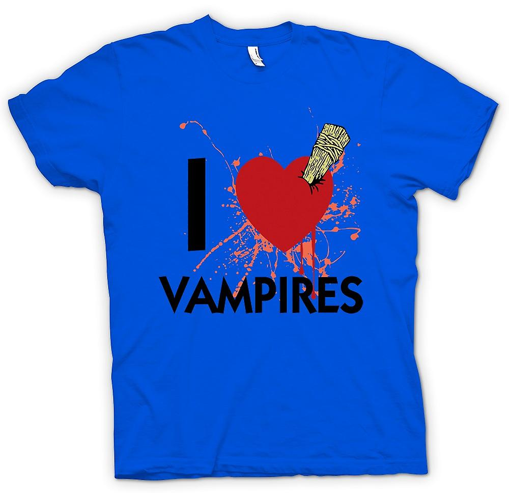 Mens T-shirt - I Love Vampires - Funny