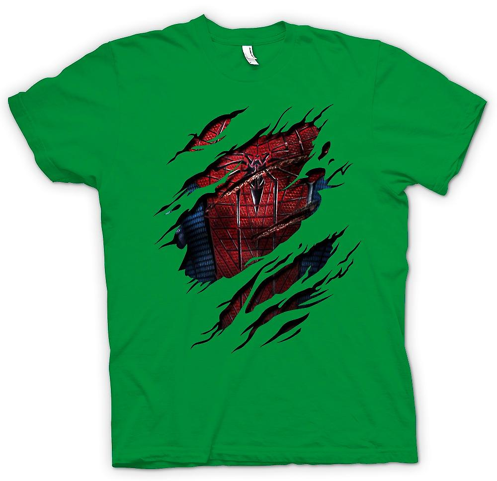 Mens t-shirt - nuovo Costume di Spiderman - supereroe strappato Design