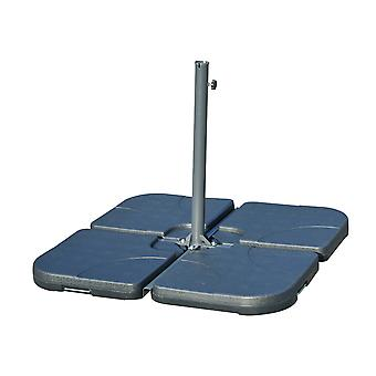 Outsunny 4pc Water For Sand Fillable Cantilever Parasol Umberella Base Cross Stand 15L Each PC
