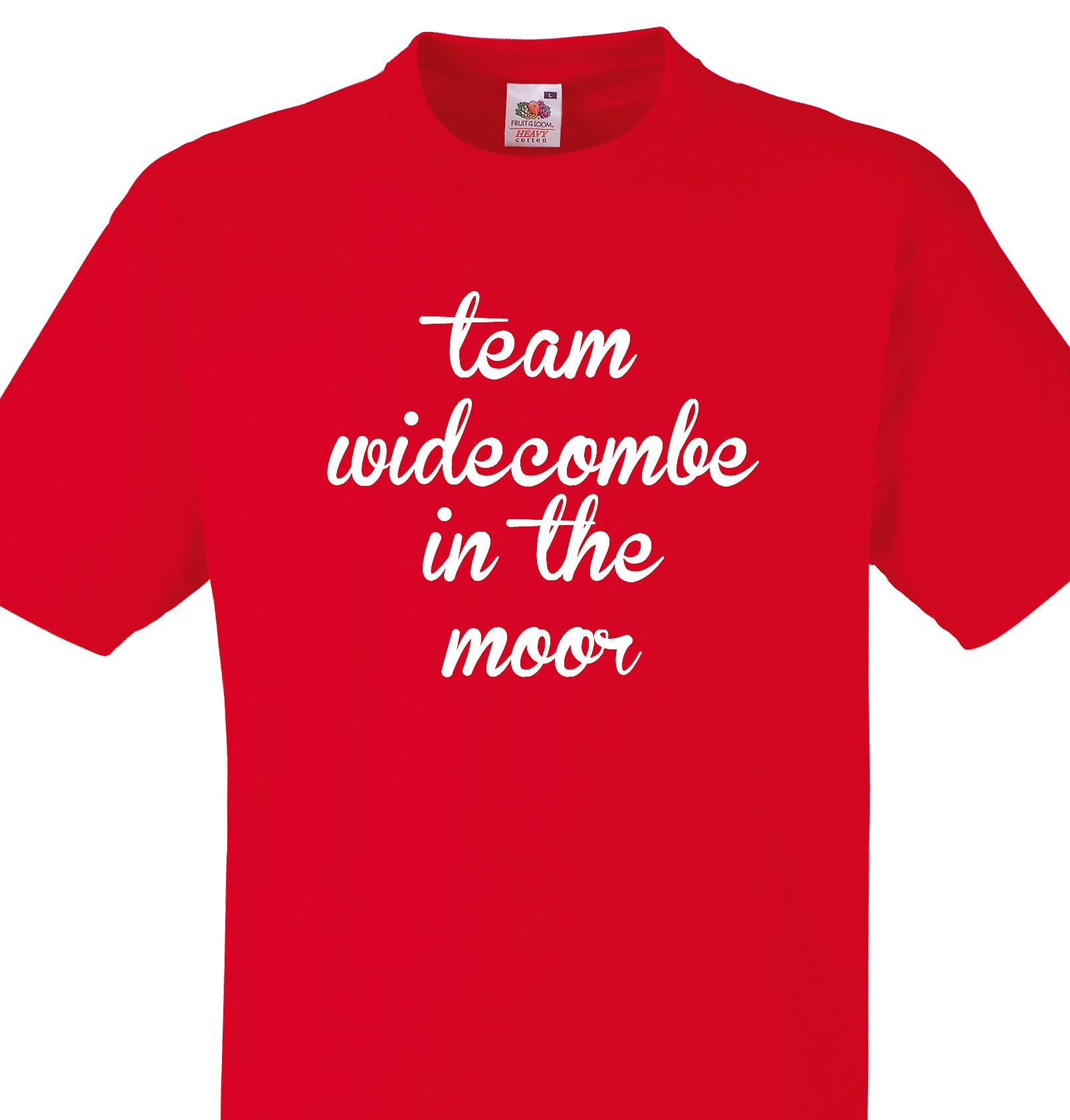 Team Widecombe in the moor Red T shirt