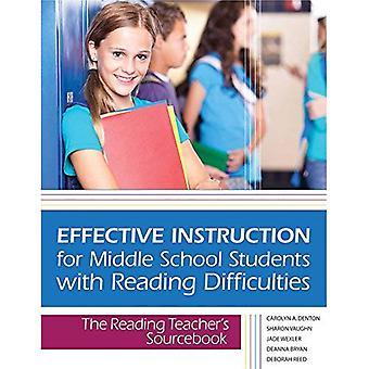 Effectieve instructie voor middelbare scholieren met het lezen van moeilijkheden