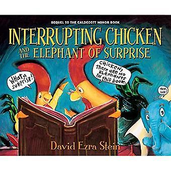 Interrompendo a galinha e o elefante de surpresa