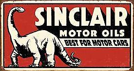 Sinclair Gasoline Dinosaur (rect) tin sign  (de)
