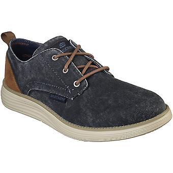 Skechers Mens Status 2.0 Pexton Demin Lace Up Casual Shoes