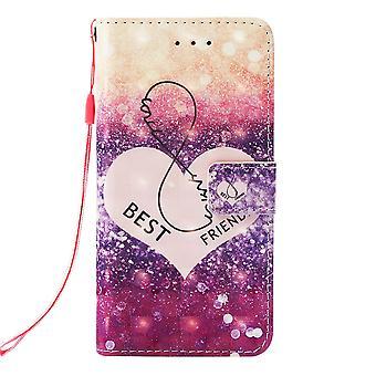 Samsung Galaxy S10 cartera caso corazón patrón