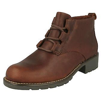 Ladies Clarks Block Heeled Ankle Boots Orinoco Oaks