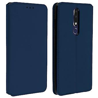 Slim Case, Classic Edition stand case with card slot Nokia 3.1 Plus - Dark Blue
