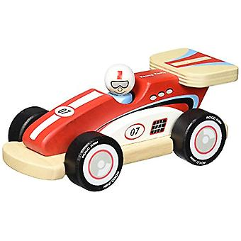 Indigo Jamm Rocky Racer Wooden Toy Racing Car - With Removable Driver