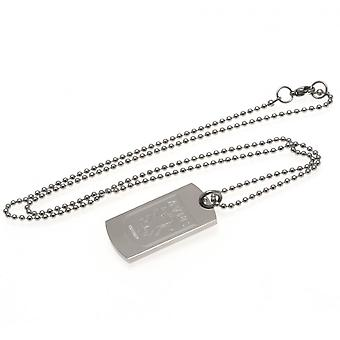 Aston Villa FC Engraved Dog Tag And Chain