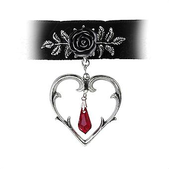 Alchemy Gothic Wounded Love Pewter Choker Necklace