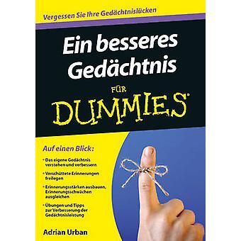 Ein Besseres Gedachtnis Fur Dummies by Adrian Urban - 9783527707713 B